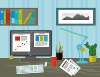 Espace de travail dans le bureau image libre de droits