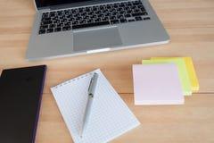 Espace de travail dans le bureau Photo libre de droits