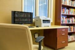 Espace de travail de bureau d'ordinateur Photographie stock libre de droits
