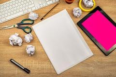 Espace de travail de dessus de table de concepteur Image libre de droits