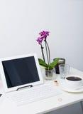 Espace de travail de femme d'affaires Image libre de droits