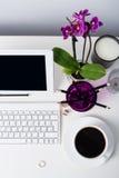 Espace de travail de femme d'affaires Photos libres de droits