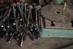 Espace de travail de forgeron Photographie stock