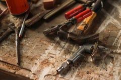 Espace de travail de forgeron Image stock