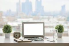 Espace de travail de rebord de fenêtre Image stock