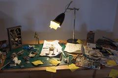 Espace de travail encombré Image libre de droits