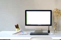 Espace de travail et bureau Image libre de droits