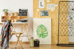 Espace de travail lumineux de style d'eco Photos stock
