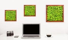 Espace de travail minimaliste élégant Photographie stock