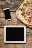Espace de travail mobile d'indépendant Photos libres de droits