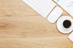 Espace de travail moderne avec des articles Photographie stock