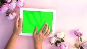 Espace de travail plat de si?ge social de configuration banque de vidéos