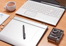 Espace de travail pour le photographe Photos stock