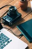 Espace de travail pour le photographe Photographie stock