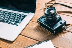 Espace de travail pour le photographe Image libre de droits