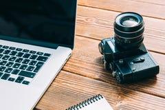 Espace de travail pour le photographe Photos libres de droits