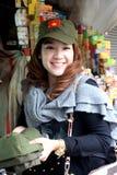 Espace de Vietnamien d'usage de fille Image libre de droits