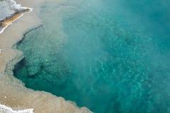 Espace libre, aqua, eau de source chaude en parc national de Yellowstone, Wyom Photo libre de droits