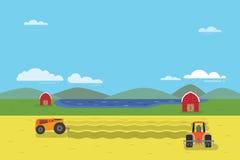 Espace libre de tracteur le champ Images stock