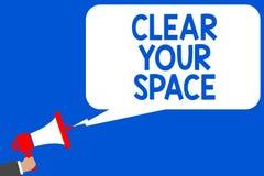 Espace libre des textes d'écriture de Word votre espace Le concept d'affaires pour le secteur propre de studio de bureau le rende Photos libres de droits
