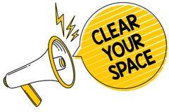 Espace libre des textes d'écriture votre espace Le concept signifiant le secteur propre de studio de bureau le rendent vide régén Photos libres de droits