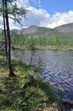 Espace libre du nord de lac photo : les montagnes, le ciel, l'eau. Images libres de droits
