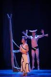 Espace libre et brouillé, attente et fureur-course dans le danse-chorégraphe labyrinthe-moderne Martha Graham Photos libres de droits