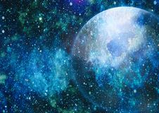 Espace lointain Fond élevé de gisement d'étoile de définition Texture étoilée de fond d'espace extra-atmosphérique Espace extra-a Photos libres de droits