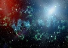 Espace lointain Fond élevé de gisement d'étoile de définition Images stock