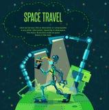 Espace lointain Planète de robots photographie stock