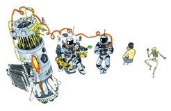Espace lointain sauvage illustration stock