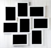 Espace neuf vide sur l'ensemble de cadre de photo Photos stock