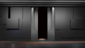 Espace o ambiente, pronto para os comp(s) de seus caráteres renderin 3D Imagem de Stock Royalty Free