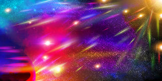 Espace o fundo com planetas, stardust e meteorito Fotos de Stock