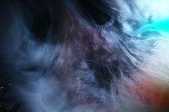 Espace o fundo da textura da nebulosa das nuvens do campo de estrela cósmico da galáxia/NASA Hubble filme