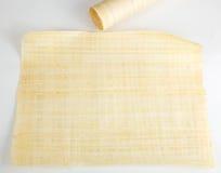 Espace publicitaire égyptien de papyrus Images stock