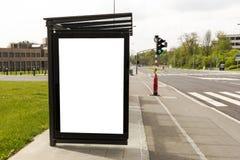 Espace publicitaire d'arrêt d'autobus Image libre de droits