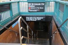 Espace publicitaire de noir d'entrée de souterrain de New York City Photos libres de droits