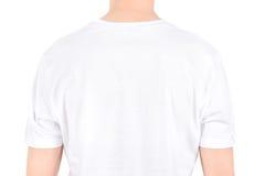 Espace publicitaire sur un T-shirt blanc Image libre de droits