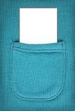 Espace publicitaire sur une bonne feuille dans une poche de laine Pour le texte Photo libre de droits