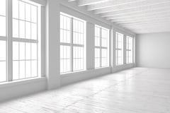 Espace vide blanc de studio ou de bureau Images stock