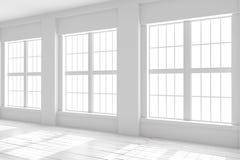 Espace vide blanc de studio ou de bureau Image libre de droits