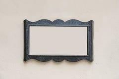Espace vide dans un cadre en métal Photos stock