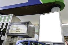 Espace vide dans une station service pour votre publicité Image libre de droits