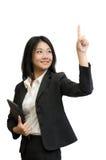 Espace vide de contact de femme d'affaires photo libre de droits