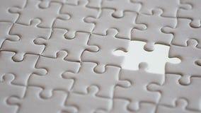 Espace vide de dernier puzzle de morceau, morceau absent Photos stock