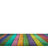 Espace vide de dessous en bois coloré Image libre de droits