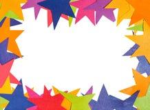 Espace vide encadrant par les étoiles de papier Images stock