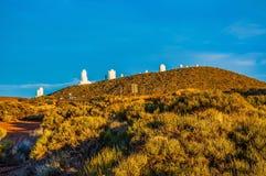 Espacez l'observatoire sur la montagne dans Ténérife, Îles Canaries Photos stock