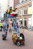 Espacez la croisière au festival de rue à Leeuwarden, NL Photographie stock libre de droits